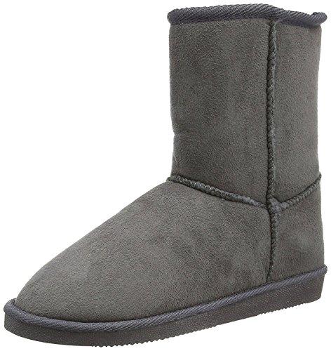 CanadiansStiefel - Stivali a metà gamba con imbottitura pesante  Bambina , grigio (Grigio scuro), 35