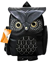 Women Girls Pu Leather Owl Cartoon Backpack Fashion Casual Satchel School  Purse for Children Students c410065e19c9a