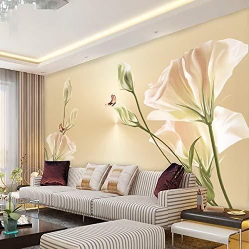 nierte Größe Foto Wohnzimmer Sofa Tv Hintergrund Wand 3D Stereo-Lautsprecher Individualität Tulpe Schlafzimmer Tapete Wandbild,480cm(W) x 290cm(H) ()