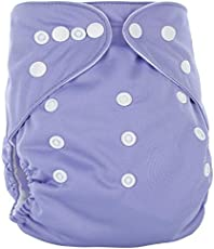 Seven MoonTM Adjustable Reusable Baby Washable Cloth Diaper Nappies For Babies Of Ages 0 To 2 Years. Pack Of 2 With 2 Pcs Wet-Free Inserts