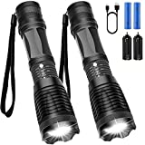 Maibahe【2 Pack】Lampe torche led ultra puissante 800...