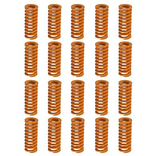 """ALLNICE 20 Stück Gelbe Die-Federn OD 0,31\""""Länge 0,78\"""" Leichte Druckfeder für kleine Lasten für 3D-Drucker Creality CR-10 10S S4 Ender 3 Wärmebettfedern Unterseite Verbinden Sie die Nivellierung"""