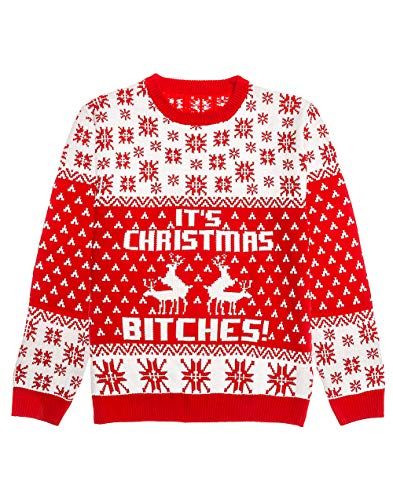 Shirtgeil Ugly Christmas Sweater - It's Christmas Bitches Weihnachtspulli Sweater Medium