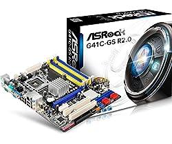 ASRock LAG 775 G41 2DRR2 8G MATX Motherboard G41C-GS