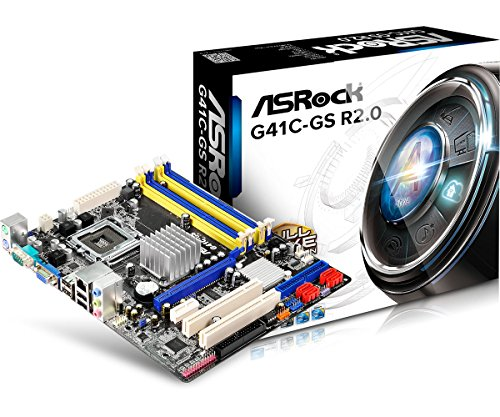 ASRock G41C-Gs R2.0 - Plaque base (Larga 775 Intel G41 + ICH7 NET / VGA 2xDDR3 2xD)