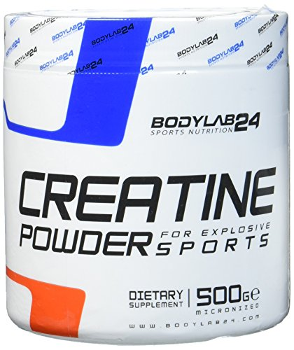 Bodylab24 Creatin Pulver, 100{cfc7fc8d1dd32cccedbe123672e5da6ec4bae42251c452b57e795cded1a2f2e1} Monohydrat Pulver, höchste Reinheit für Muskelwachstum, Premium Qualität, 500 Gramm Dose