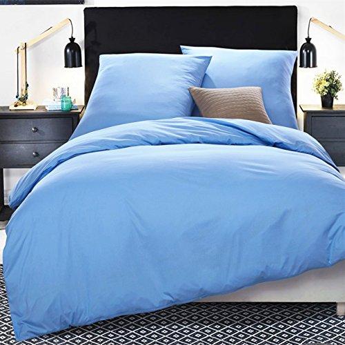 Preisvergleich Produktbild Word of Dream Fadendichte 250 Bettwäsche Set, 135x200 cm 100 % Baumwolle, 2-teilig, Hellblau