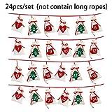 Hanging Pack, Hanging Christmas Calendar Candy Bag Weihnachtsdekoration, Machen Sie tolle kleine...