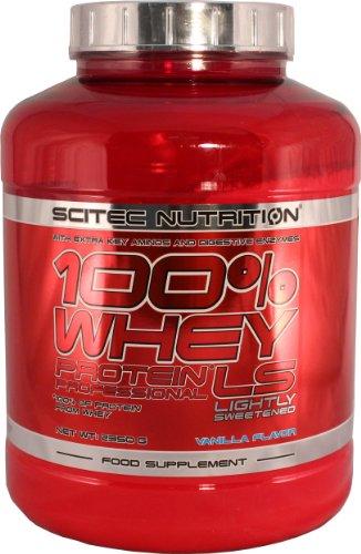 Scitec nutrition 100% whey protein professional, vaniglia con poco zucchero, 2350 g