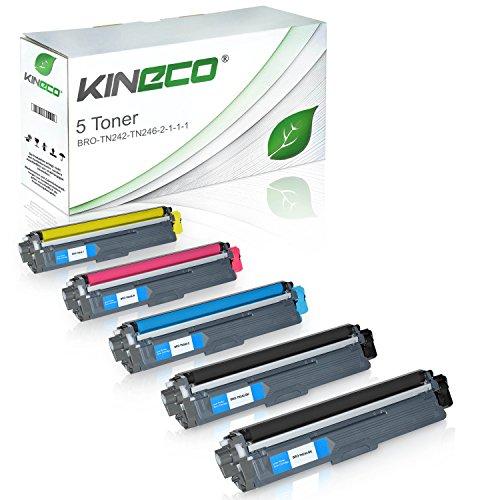 Preisvergleich Produktbild 5 Toner kompatibel zu Brother TN-242 TN-246 für Brother DCP9017CDWG1, MFC-9142CDN, HL3142CW, DCP-9017CDWG1, DCP-9022CDW, HL-3152CDW, MFC-9342CDW, HL-3172CDW, MFC-9332CDW - TN242 TN246 - Schwarz je 2.500 Seiten, Color je 2.200 Seiten