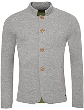 Gweih & Silk Strickjacke Axel in Grau