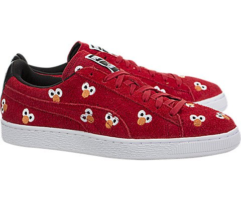 PUMA Select Men s x SESAME STREET Suede Sneakers  High Risk Red  8 D M  US