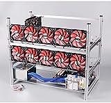 12 GPU Open Air Mining Rig stapelbar Rahmen Fall mit 10 Fans für ethereum (ETH)/etc/zcash/monero/BTC
