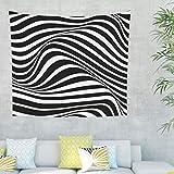 tappezzeria psichedelica zebrata strisce bianco e nero tappeto da parete BöHmische Mandala Casa Arte da parete tappezzeria per camera da letto soggiorno 79x59inch bianco