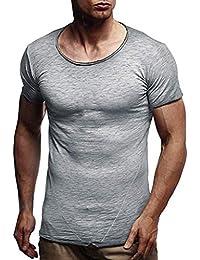 ¡Gran promoción! Camisas para Hombres Verano Moda Color sólido Patrón Moda  Casual O Cuello Manga Corta Blusas… e9e6af239f7cd