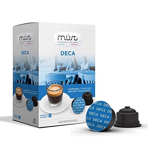 Must Espresso Italiano 96 Capsule Compatibili Dolce Gusto Deca - 6 confezioni da 16 capsule