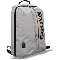 Seute Nylon 22 Ltr Grey Laptop Backpack