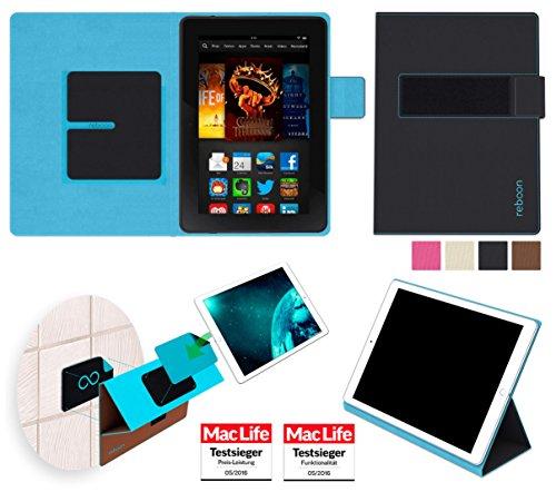 reboon Hülle für Amazon Kindle Fire HDX 7 Tasche Cover Case Bumper   in Schwarz   Testsieger