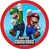 Tortenaufleger Tortenfoto Aufleger Foto Bild Super Mario Bros rund ca. 20 cm (29) *NEU*OVP*