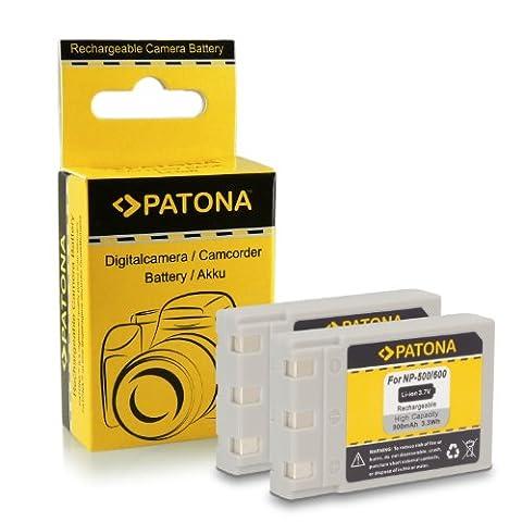 2x Batterie Koncia DR-LB4 / Minolta NP500, NP600 pour Konica DR-LB4 | KD-310Z | KD-400Z | KD-410Z | KD-420Z | KD-500Z | KD-510Z | KD-520 | Minolta Dimage G400 | G500 | G530 | G600 | Praktica EXAKTA DC 4200 | Concord Eye-Q 4342z | Fujitsu-Siemens CX 431 | Rollei dt4000 | Prego DP4000