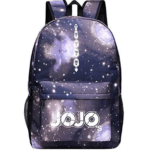 Muster Joseph Kostüm - JoJo's Bizarre Adventure Starry Sky Lightning Plaid Print Rucksack Daypack Laptop Tasche Umhängetasche College Bag Book Bag Schultasche