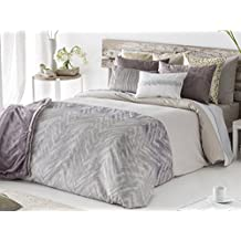 Antilo - Funda nórdica AYANA cama 180 - Color Malva (Juego duvet 3 piezas con saco nórdico, cojines decorativos y funda de almohada)