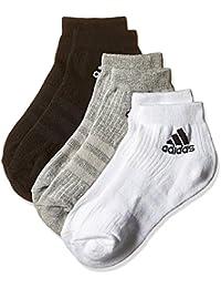 adidas 3S PER AN HC 3P - Calcetines unisex, color negro / gris / blanco, talla 35-38