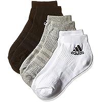 Adidas 3S per An HC 3P – Calzini da uomo, Unisex adulto, 3S PER AN HC 3P, Nero / Grigio / Bianco, 35-38