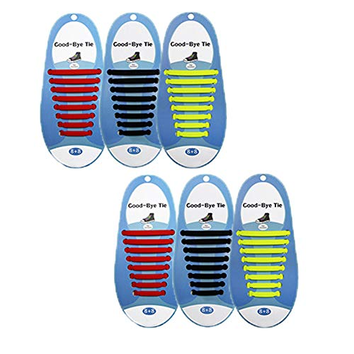 Keine Krawatte Silikon Spitze elastische Schnürsenkel für Erwachsene Jugend Sportschuhe, Flache Schuhe, Lederschuhe,Group4 -
