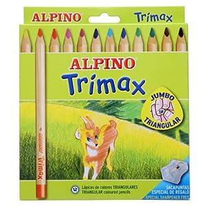 Alpino-490251 Pack de 12 lápices, Colores Surtidos, Multicolor (Industrias Massats 113)