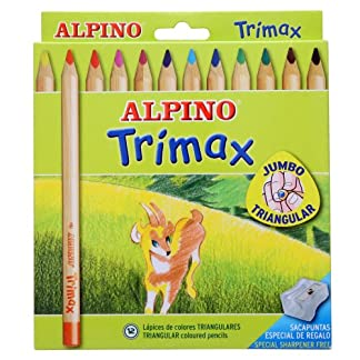 Alpino-490251 Pack de 12 lápices, Colores Surtidos, (Industrias Massats 113)