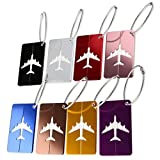 Travel Gepäck Kofferanhänger mit Namensschild Xpassion Gepäckanhänger aus Metall 8 Farben