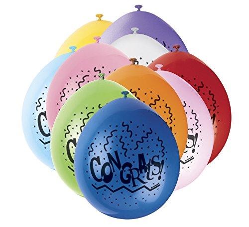 s 22,9cm Latex Ballons, Congratulations Sortiert 10Stück ()