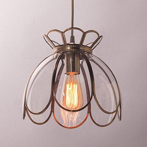 $Beleuchtung American Retro Lotus alle Bronze Kronleuchter, Single Head Schlafzimmer Garderobe Nachttischlampe Lotus Light Innenleuchten ( größe : 27*23cm-B )