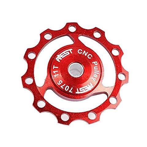 derailleur pulley - AEST 11T Jockey Wheels Derailleur Bike Pulley Shimano & Sram XX, XO, X9, X7 red