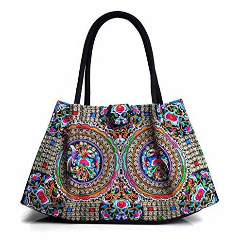 Ricamo Handbags bellissimi fiori–Memorecool tradizionale design festival regali per amici e familiari borse a tracolla flower1 flower6