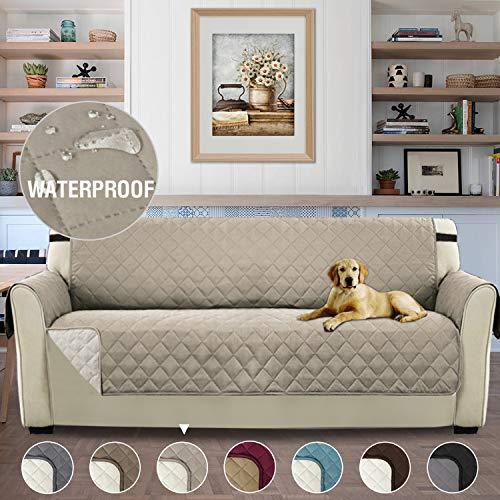 H.versailtex copridivano 3 posti impermeabile divano protector mobili coperture su due lati per cani/gatti letto con divano slipcovers 190 x 167cm, sabbia