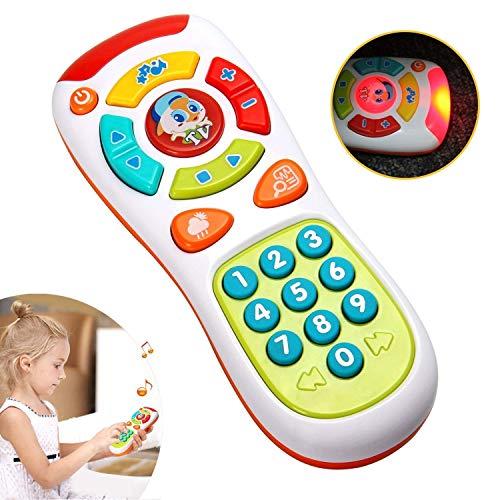 ACTRINIC Juguete De Control Remoto para BebéS Juguete Multifuncional De Luz y Sonido Juguete De Botones Juguete De EducacióN Preescolar para BebéS El Mejor Regalo para NiñO y NiñA (6 meses)