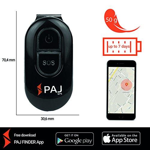 PAJ EASY Finder 2.0 Kinder Tracker Peilsender GPS Tracker mit App SOS Notruf Senioren Ortungsgerät Personen Mini Schlüsselanhänger Auto Alarm-gps-tracker