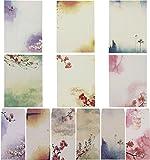 SUNSWEI Set per scrivere, con 48 fogli e 24 buste, in colori assortiti