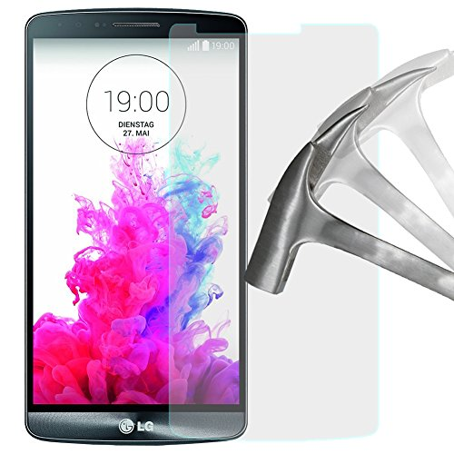 2x Schutzglas Panzerglas für LG G3 G 3 Schutzfolie Displayschutzfolie Echt Glas Panzer Folie Screen Protector von Lanboo
