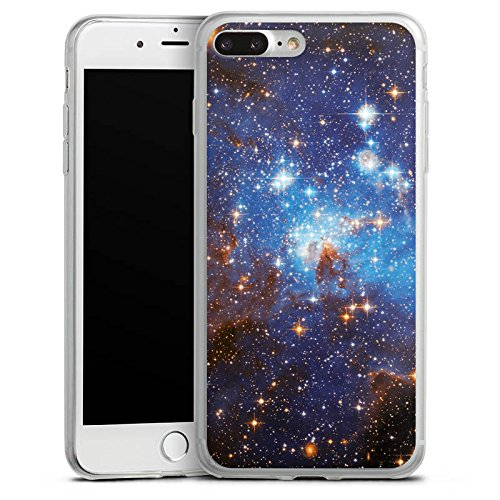 Apple iPhone X Slim Case Silikon Hülle Schutzhülle Space Galaxy Große Margellansche Wolke Silikon Slim Case transparent