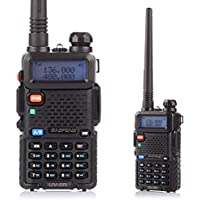 Baofeng UV-5R Talkie walkie/Walkie-talkie Interphone ricetrasmettitore Two Way FM radio VHF/UHF Dual -Band 136-174/400-480 MHz + Cuffie