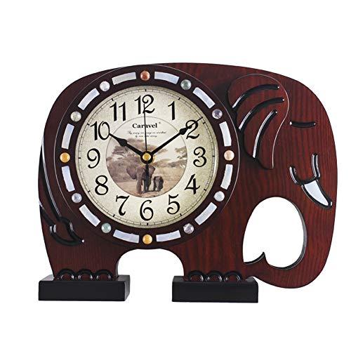 Li-lamp Tischuhr, Quarz Tischuhr Wohnzimmer Holz Stumm Schlafzimmer Seiko Time Clock Uhr Massivholz Kunst Dekor Stil Ornamente