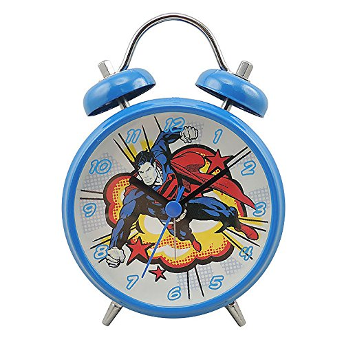 Joy Toy 106295 – Despertador, diseño Superman Metal Azul 9 x 4,5 x 13 cm