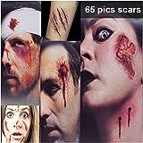 Halloween schminke, Halloween Narben Tattoo, 【3 Große + 5 Kleine Stück , 65 Muster】, Temporäre Tattoos, Scars Tattoos, Gefälschte Halloween wunden, Wasserdicht Terror Wunde für Halloween Make-up und Cosplay