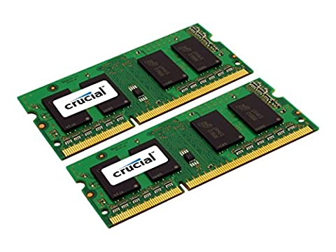 Crucial 16 GB Kit (8 GB x 2) DDR3L 1600 MT/s (PC3L-12800) SODIMM 204-Pin Memory