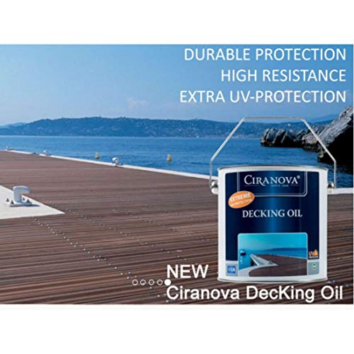 Ciranova Ultimate Protection Decking Teak Oil Wood Finish | Varnish for Interior and Exterior Surfaces-2.8 Litre