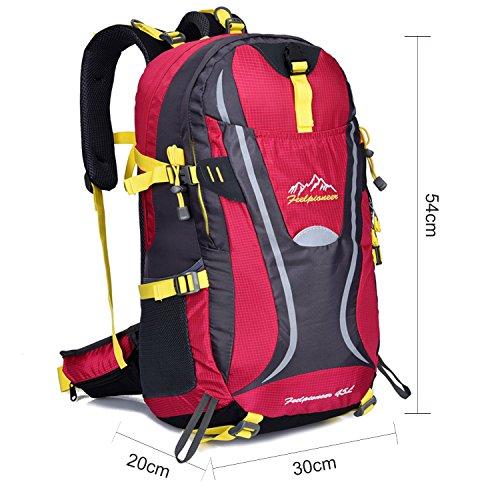Young & Ming - 45L Unisex Rucksäcke Im Freien Wandern Klettern Freizeit Trekkingrucksäcke Outdoor Taschen Radfahren Reiten Reisetaschen wasserdicht Backpack Rose