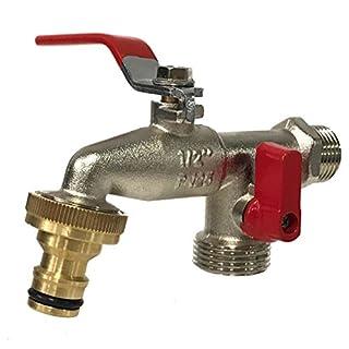 AQUA CONTROL G6354–Double output garden tap 1/2–3/4